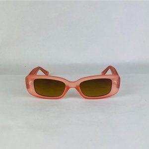 matte salmon frame rectangle sunglasses